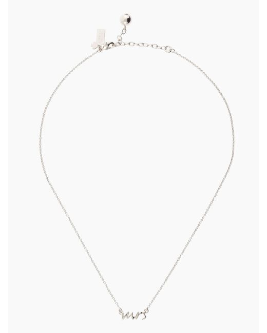 "Kate Spade | Metallic Say Yes ""mrs"" Necklace 