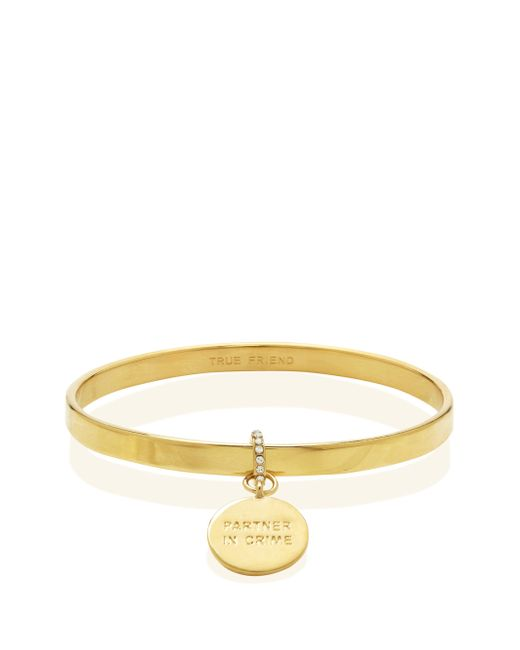 kate spade new york | Metallic Partners In Crime Charm Bangle | Lyst
