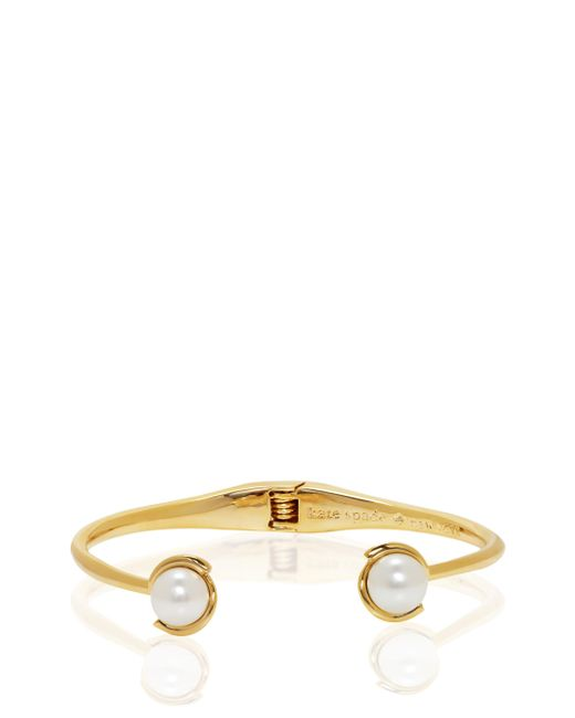 Kate Spade | White Dainty Sparklers Pearl Cuff | Lyst