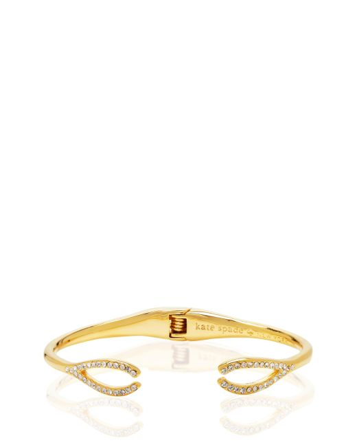 kate spade new york | Metallic Dainty Sparklers Wishbone Cuff | Lyst