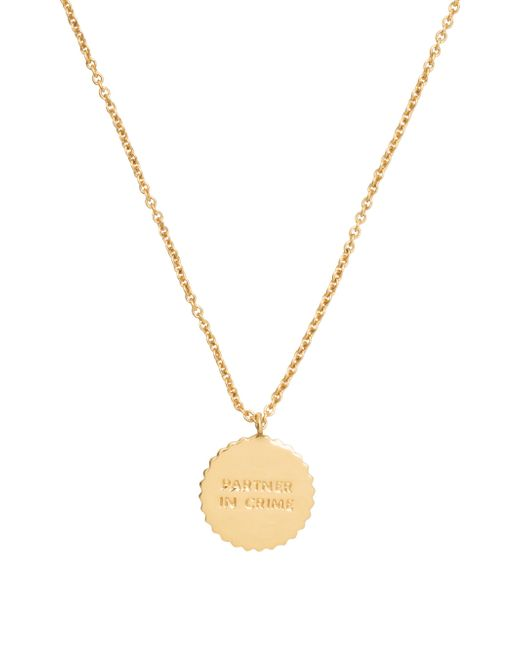 Kate Spade | Metallic Say Yes Partners In Crime Pendant | Lyst