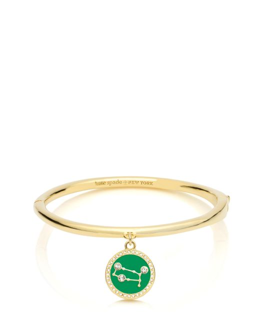 Kate Spade | Green In The Stars Gemini Bangle | Lyst