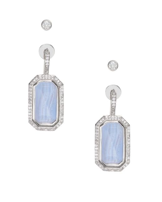 kate spade new york | Blue Super Stone Drop Earrings | Lyst