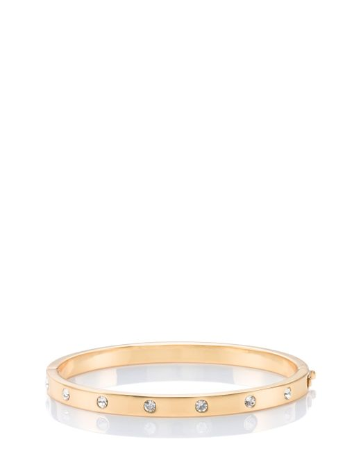 Kate Spade | Metallic Set In Stone Stone Hinged Bangle | Lyst