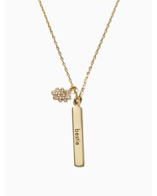 Kate Spade | Metallic #livecolorfully Bestie Bar Pendant | Lyst