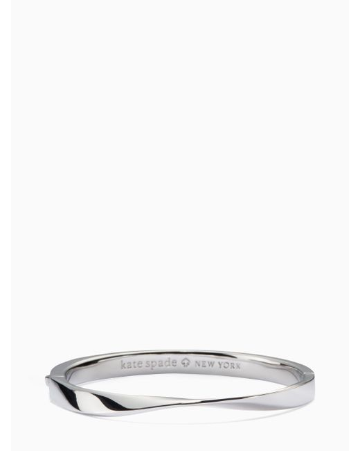 Kate Spade | Metallic Do The Twist Hinged Bangle | Lyst
