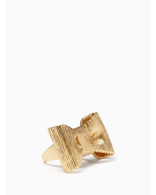 Kate Spade | Metallic All Wrapped Up Statement Ring | Lyst