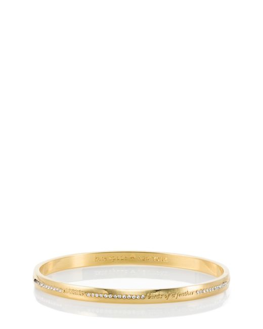 Kate Spade | Metallic Pave Bridesmaid Idiom Bangle | Lyst