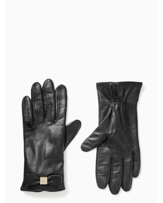 Kate Spade - Red Bow Touchscreen Gloves - Lyst