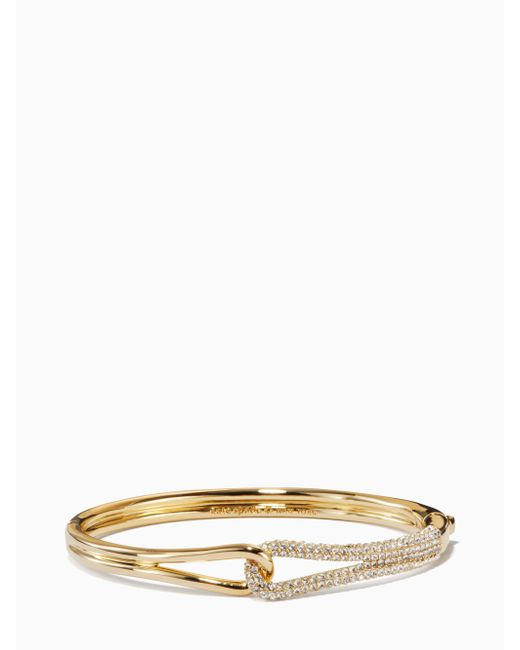 Kate Spade - Metallic Get Connected Pave Loop Bangle - Lyst