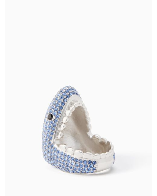 Kate Spade - Blue California Dreaming Pave Shark Ring - Lyst