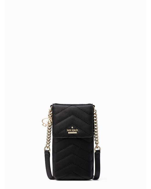 Kate Spade - Black Quilted North South Crossbody Iphone Case - Lyst