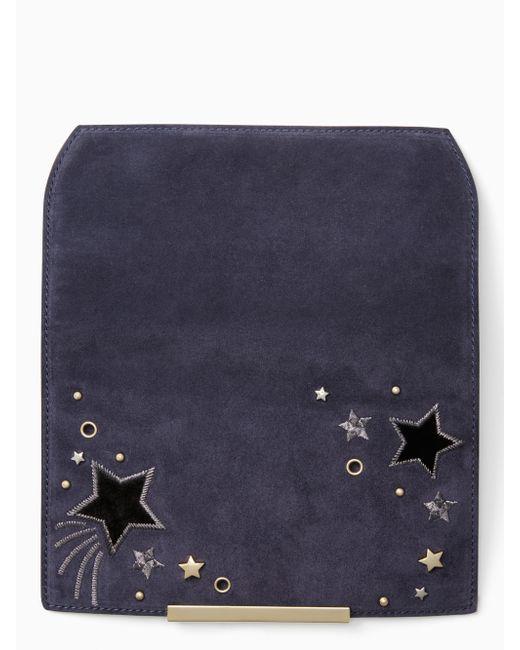 Kate Spade - Blue Make It Mine Embellished Star Flap - Lyst