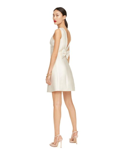 kate spade new york | Natural Open Back Bow Dress | Lyst