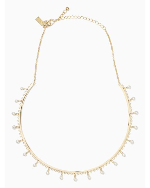 kate spade new york | Metallic Chantilly Charm Collar Necklace | Lyst