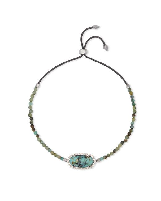 Kendra Scott - Metallic Elaina Silver Beaded Chain Bracelet - Lyst