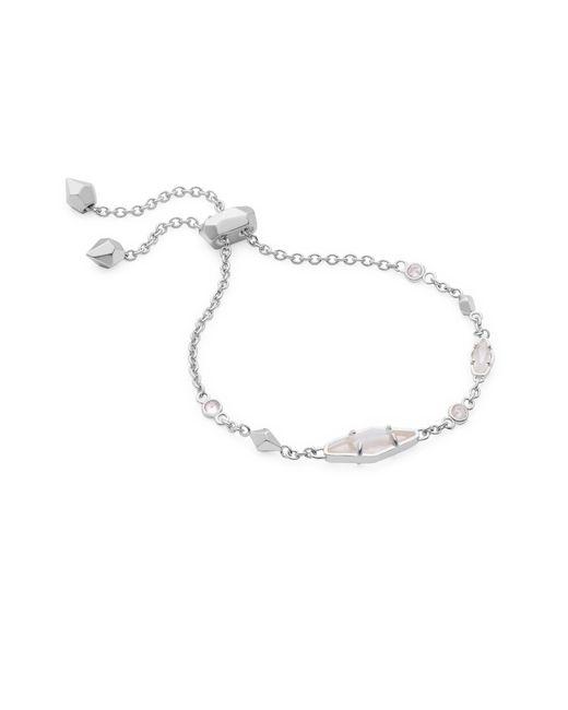 Kendra Scott - Metallic Deb Adjustable Chain Bracelet In Silver - Lyst