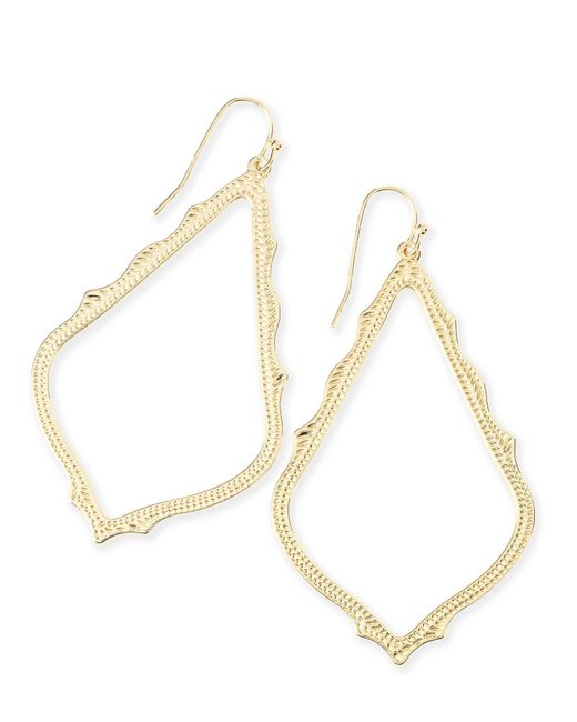 Kendra Scott - Metallic 'sophee' Textured Drop Earrings - Lyst