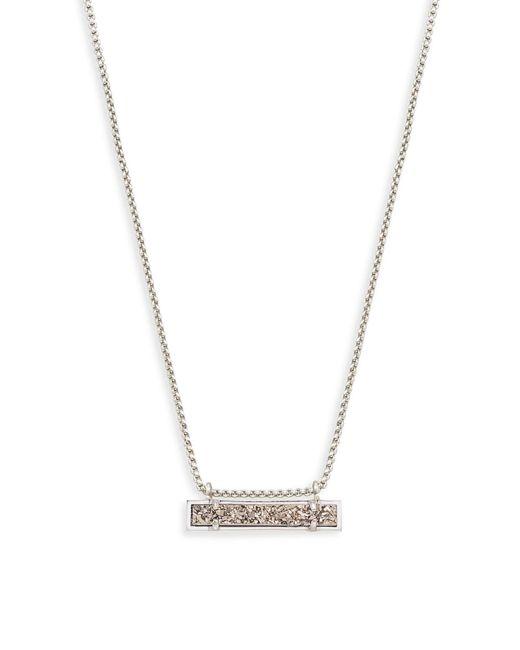 Kendra Scott - Metallic Leanor Silver Pendant Necklace - Lyst
