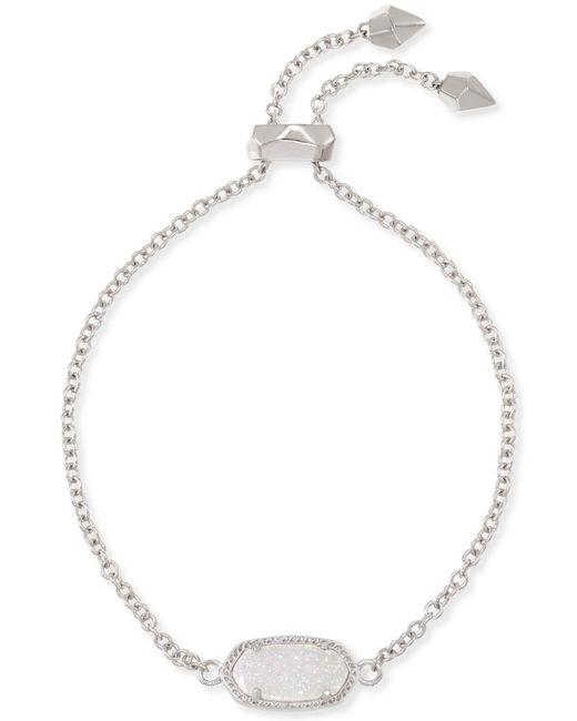 Kendra Scott - Metallic Elaina Silver Adjustable Chain Bracelet - Lyst