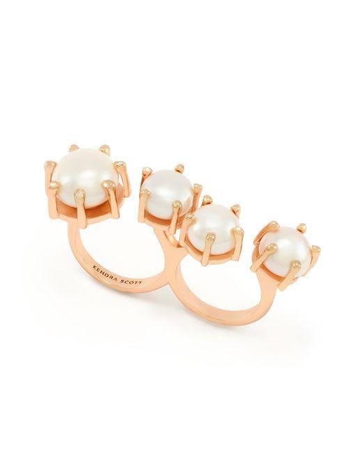 Kendra Scott - Metallic Harriet Double Ring In Rose Gold - Lyst
