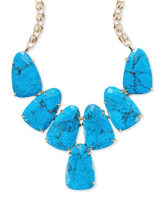 Kendra Scott - Blue Harlow Gold Statement Necklace - Lyst