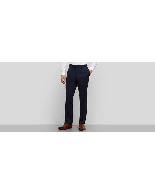 Kenneth Cole Reaction - Blue Slim Fit Urban Heather Dress Pant for Men - Lyst