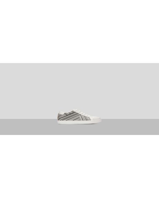 Mens Kam Stripes Leather Sneaker Kenneth Cole u6C8Axxuv