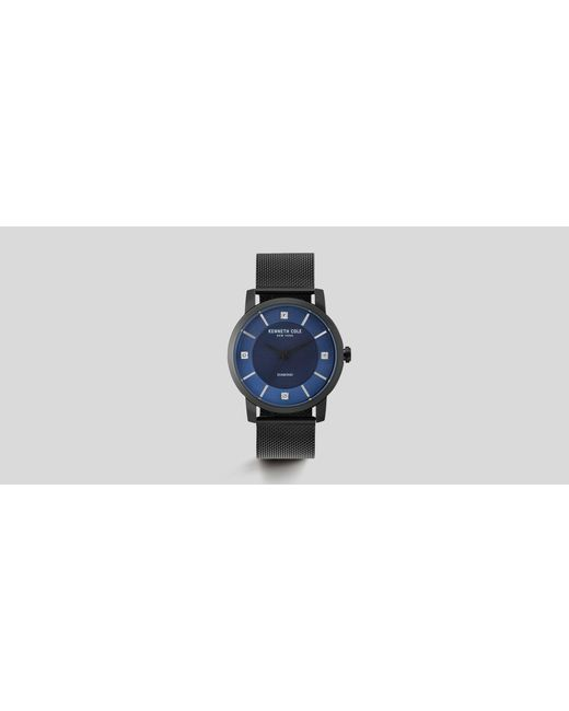 Kenneth Cole | Dark Blue Stainless Steel Mesh Watch for Men | Lyst