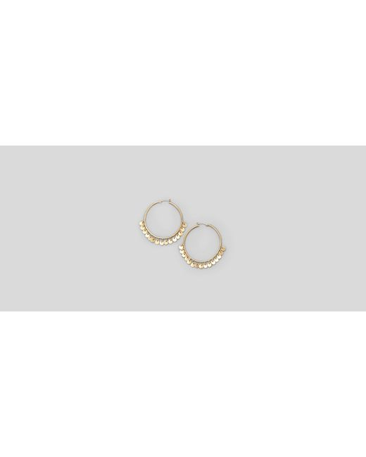 Kenneth Cole | Metallic Large Gold Tone Hoops | Lyst