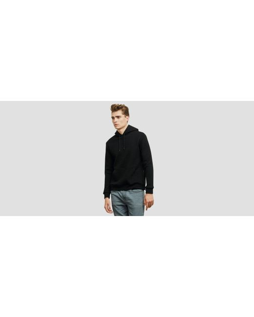 Kenneth Cole | Black Quilted Pullover Hoodie for Men | Lyst