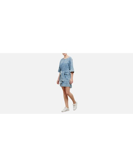 Kenneth Cole - Blue Kimono Sleeved Tie Front Dress - Lyst