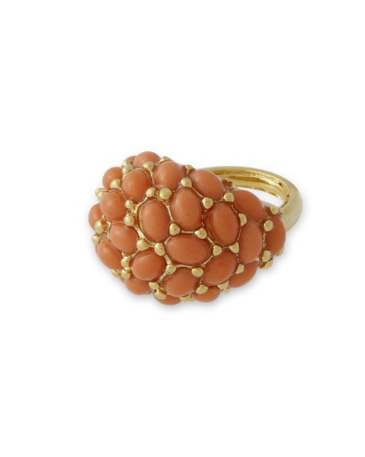 Kenneth Jay Lane | Pink Coral Cabochon Ring | Lyst