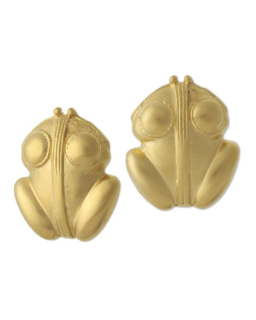 Kenneth Jay Lane | Metallic Frog Earrings | Lyst