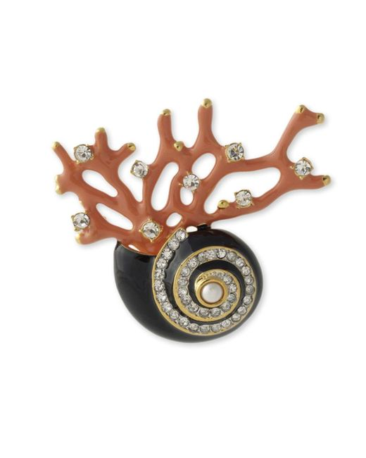 Kenneth Jay Lane | Multicolor Seashell And Branch Brooch | Lyst