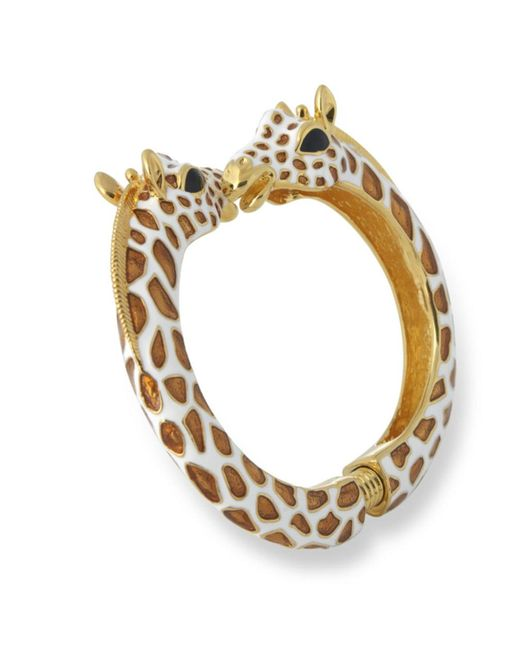 Kenneth Jay Lane | Brown Tan Giraffe Bracelet | Lyst