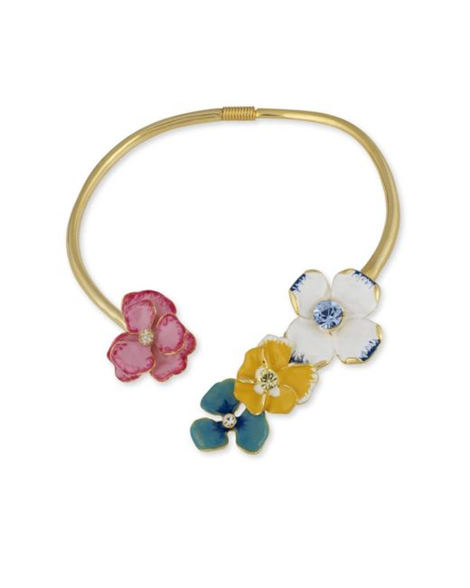 Kenneth Jay Lane | Multicolor Flower Necklace | Lyst