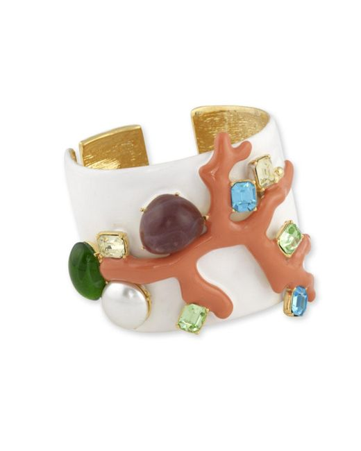 Kenneth Jay Lane | White Coral Branch Cuff | Lyst