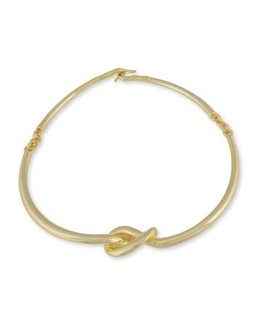 Kenneth Jay Lane | Metallic Polished Gold Knot Necklace | Lyst