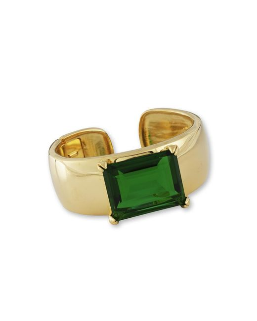 Kenneth Jay Lane | Green Emerald Cuff | Lyst