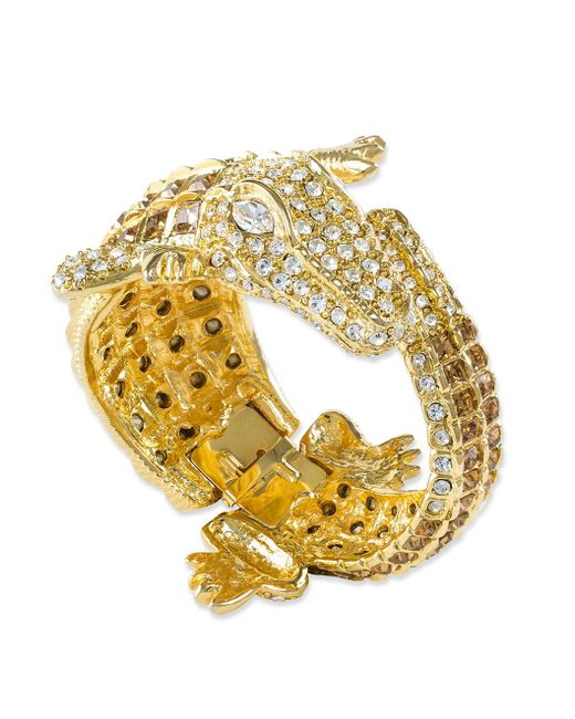 Kenneth Jay Lane | Multicolor Topaz Alligator Bracelet | Lyst