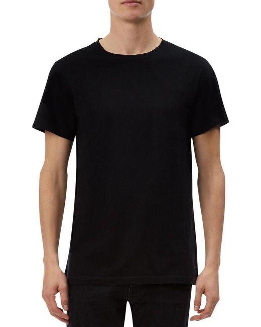kent curwen vintage wash t shirt in black for lyst