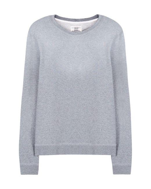 kent curwen vintage wash sweatshirt in grey for lyst