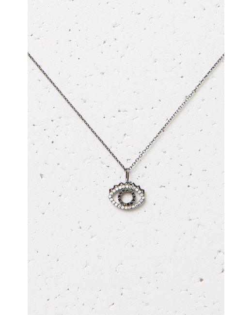 KENZO   Metallic Mini Eye Necklace   Lyst