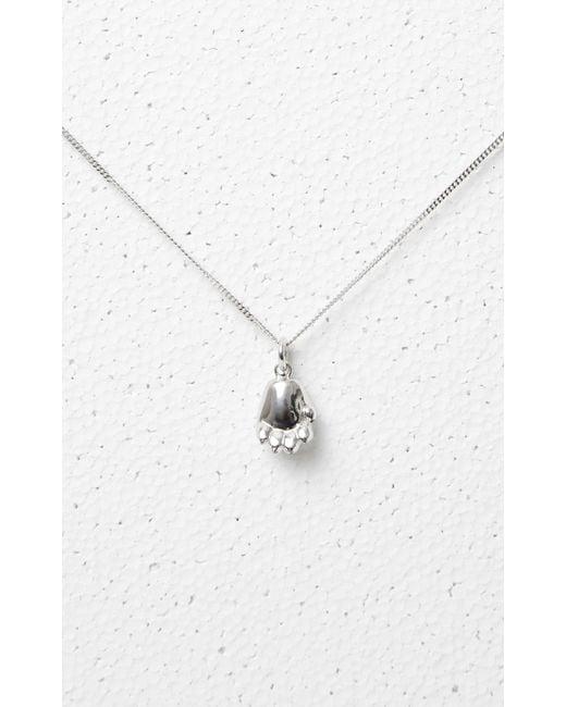 KENZO - Metallic Tiger Paw Necklace - Lyst