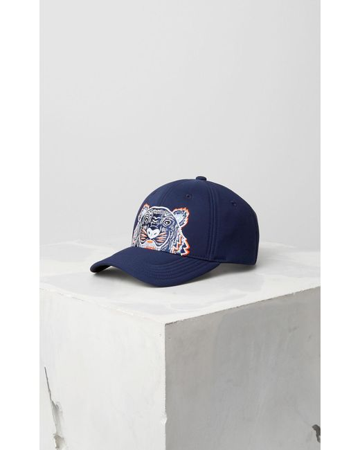 0a7cdcd31a KENZO Neoprene Tiger Cap Navy Blue in Blue for Men - Save 4% - Lyst