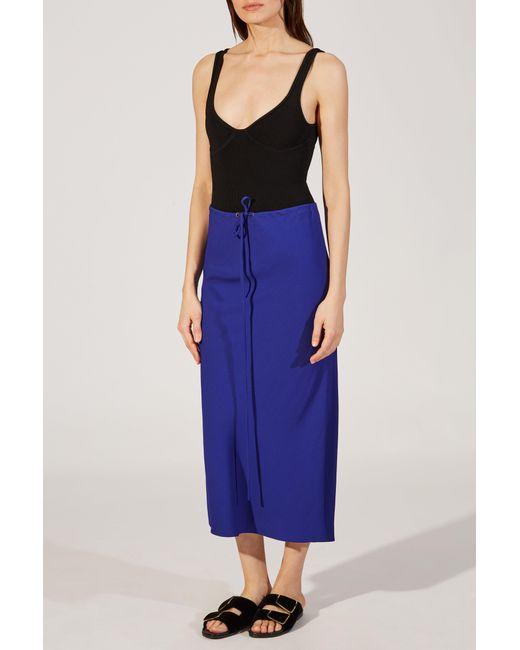 Khaite - Blue The Marta Skirt - Lyst