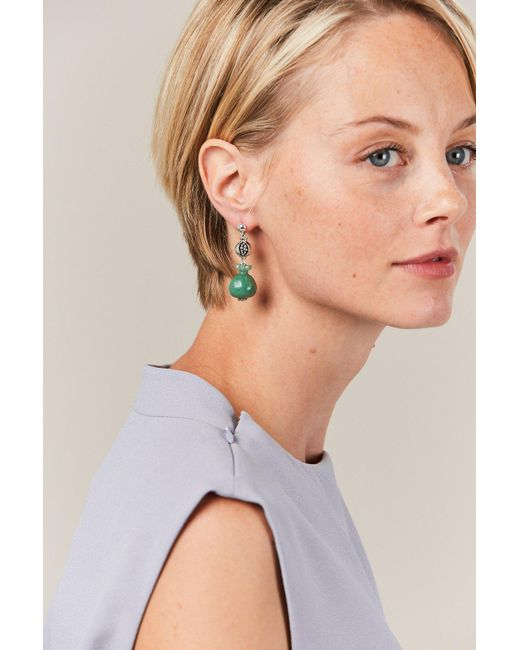 Pamela Love - Green Stone Persephone Earrings - Lyst