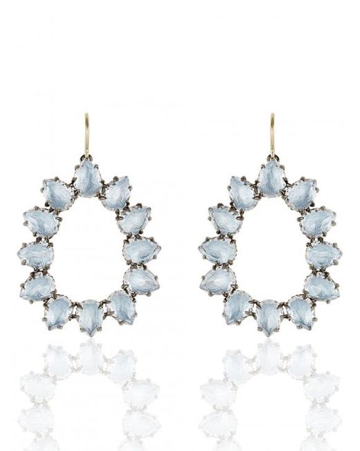 Larkspur & Hawk - Blue Caterina Small Frame Earring - Lyst