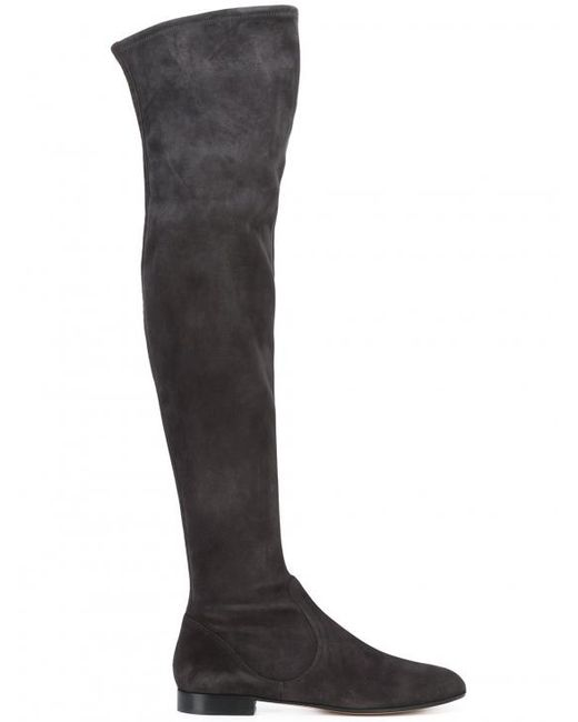 Gianvito Rossi | Black Over-the-knee Suede Boots | Lyst